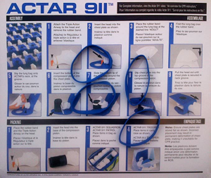 Instruction card for Actar 911 lungs
