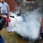 Practical fire fighting exercise