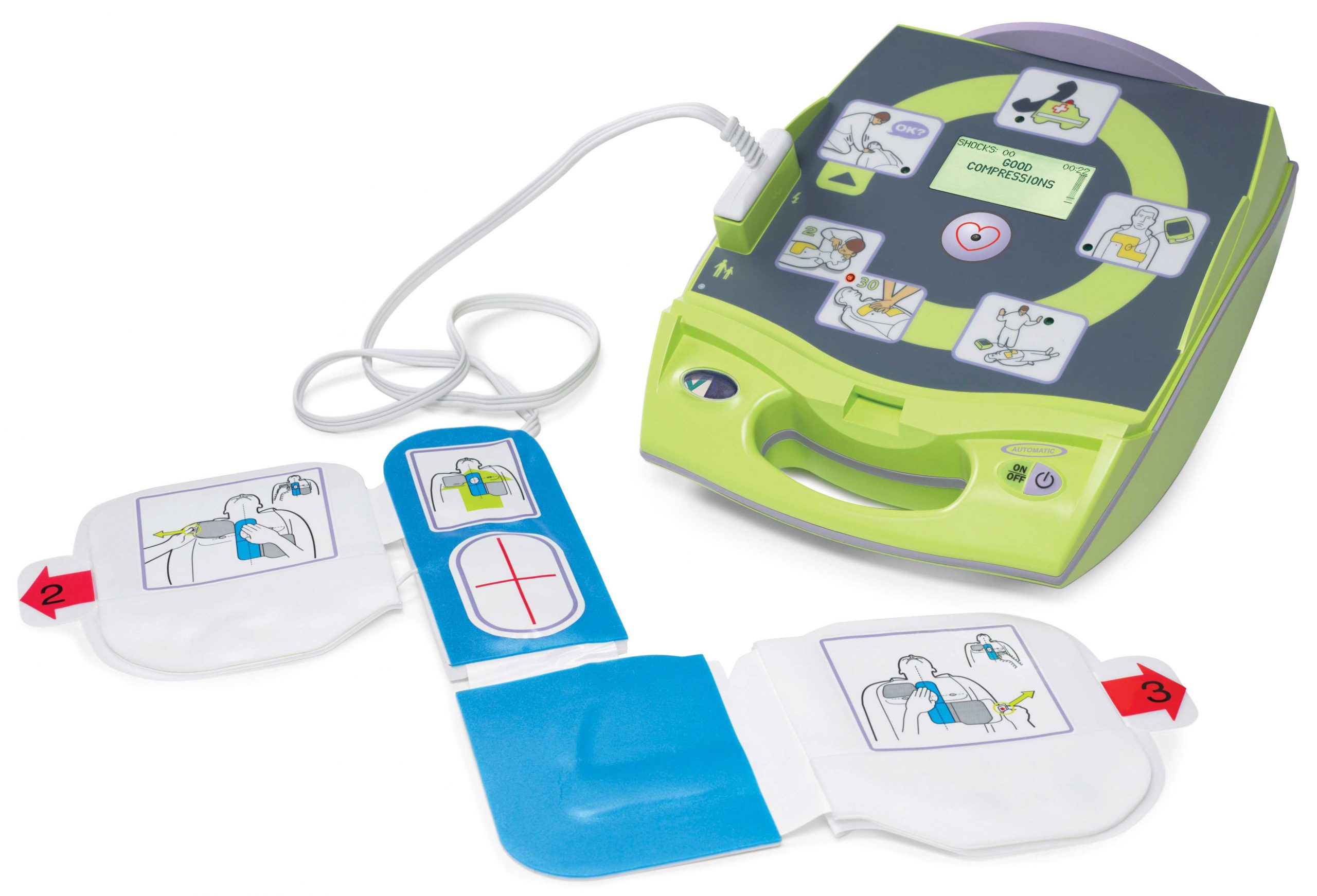 Zoll Plus AED with open lid
